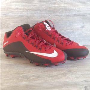 Nike Alpha Pro II Football Cleats.